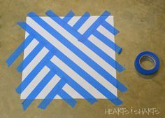 use painter's tape designs | Change directions a few times and mix it up until you get a pattern ...