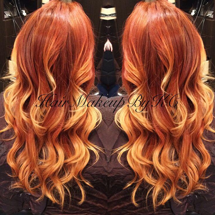 fire red hair ideas