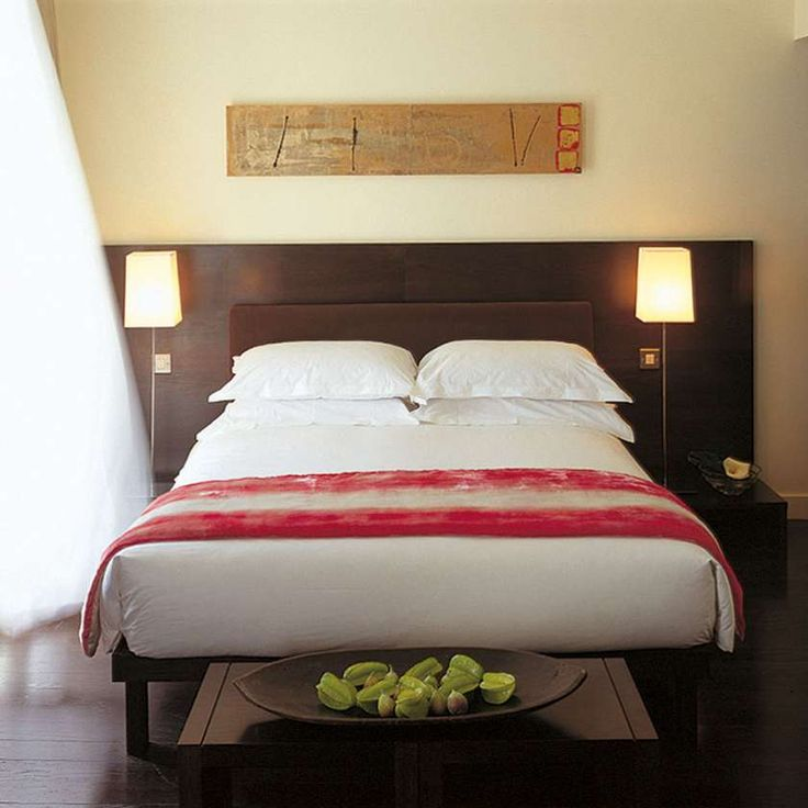 A suite at the Boutique Morrison hotel in Dublin. #rustic #woodenheadboard