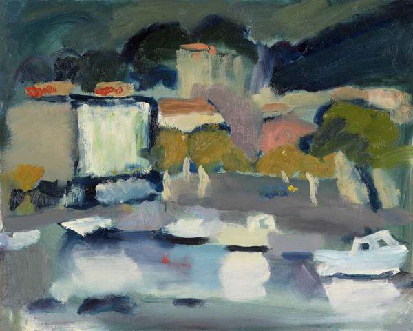 Annabel Gault: Harbour, Cassis V Campden Gallery,