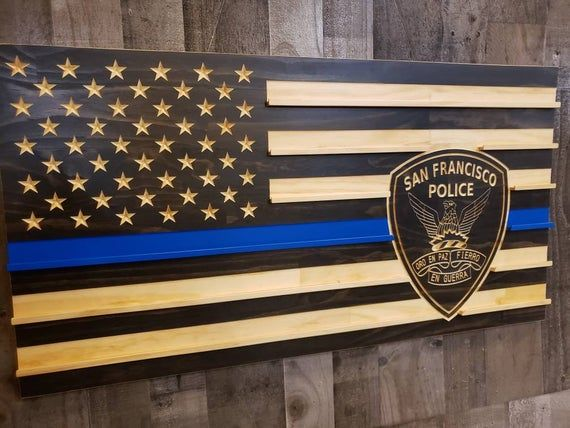 San Francisco Police Patch Thin Blue Line Subdued American Flag In 2021 Thin Blue Lines Police Police Patches