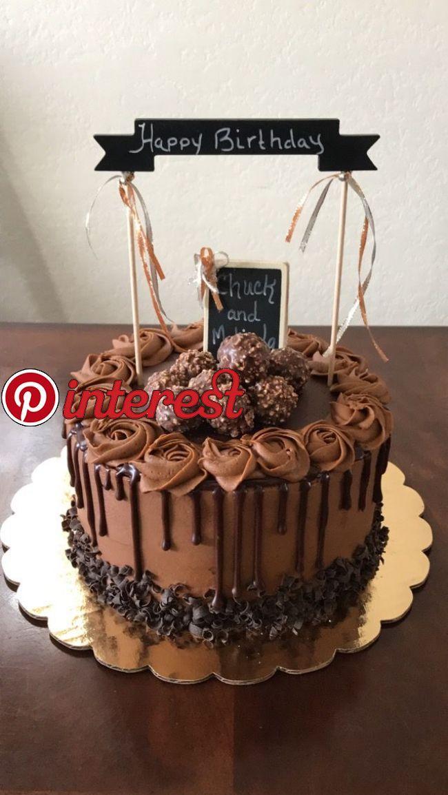 Chocolate Drip Birthday Cake Chocolate Cake Decoration