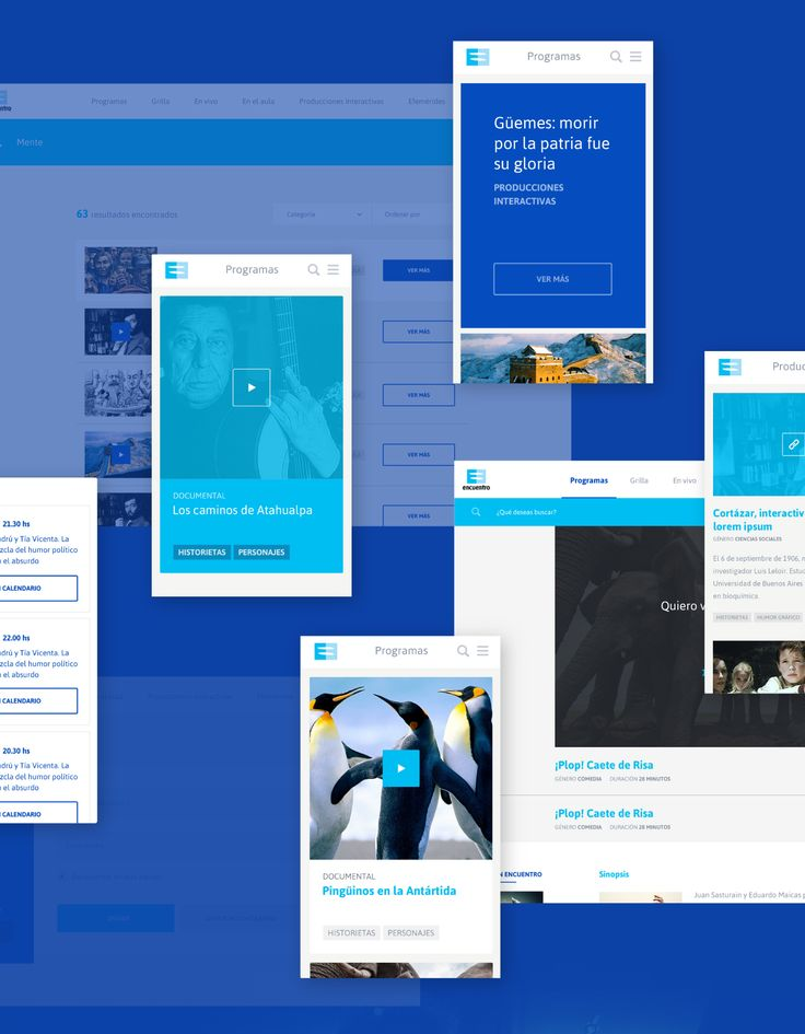 Canal Encuentro Interactive Portal on Behance