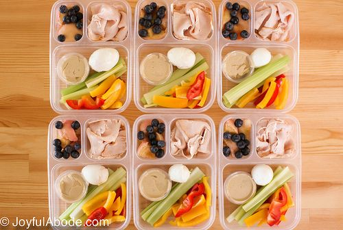 """""""Bistro boxes"""" from @Emily Schoenfeld Chapelle at Joyful Abode. Great to make for easy snacks or meals, or to grab and throw in a cooler when you will be out running errands."""