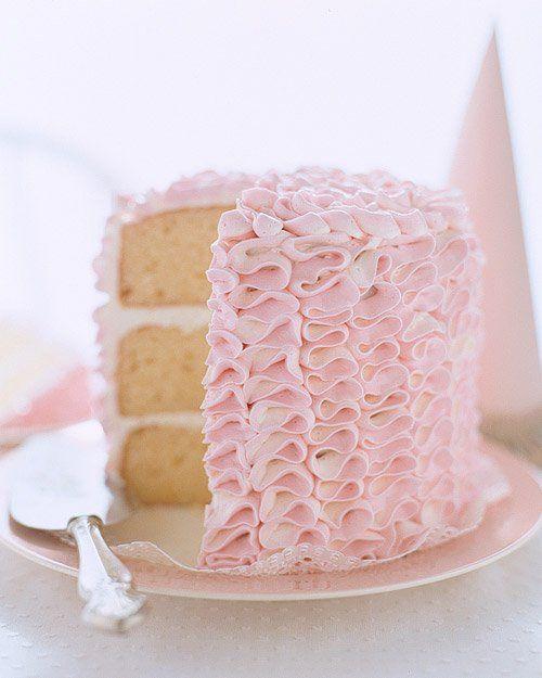 Ruffle Tower Cake Recipe