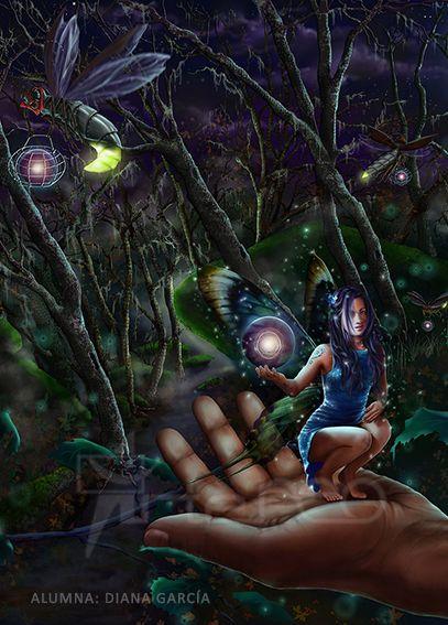 Diana García es la autora de esta Ilustración Fantástica realizada con técnicas digitales. #digital paintind #digital illustration #digital art #arteneo #ilustración digital http://www.arteneo.com/
