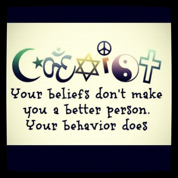 Accept what you can't change, learn some tolerance for those you don't like, and coexist.  Might be asking too much of the humans, but gotta try, right, all while practicing what you're preaching.  This goes for everyone, even those of the Atheist community who're arrogant assholes.