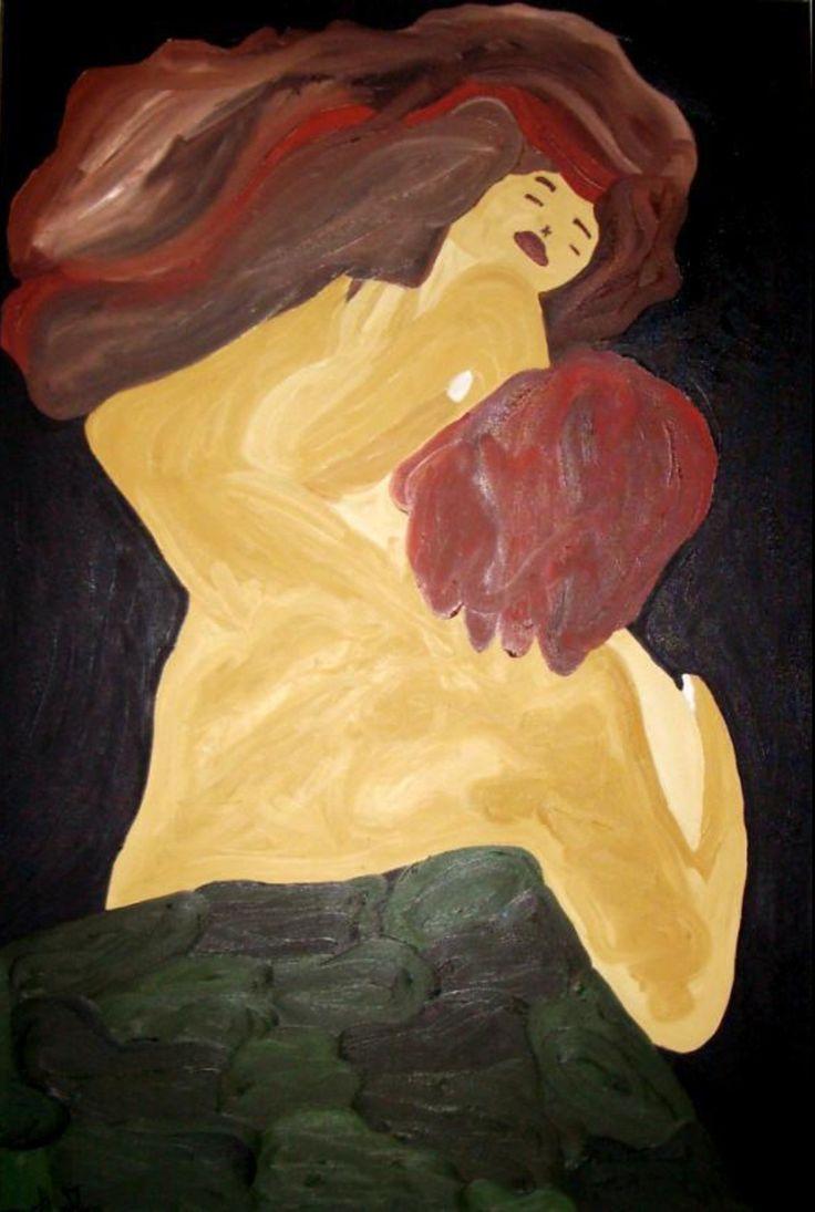 Pintora Adelaide Moça   Óleo sobre tela   TAMANHO 60*80