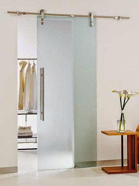 puerta corrediza de vidrio templado