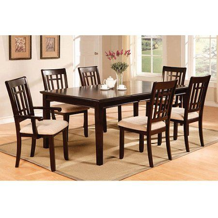 Venetian Raven I 7Piece Dining Set Espresso Box 2 Of 2  Dining Extraordinary Espresso Dining Room Sets Inspiration Design