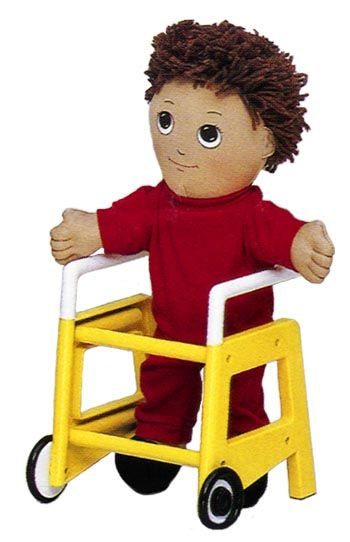"disability doll -- great for helping kids understand that people with disabilities can be ""normal"" people"