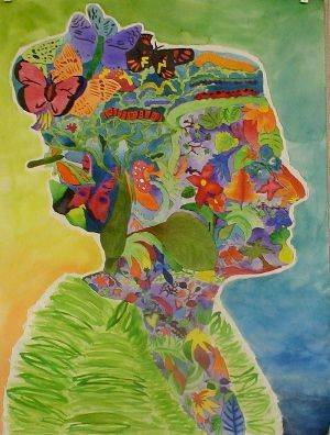 middle school art projects | ... portrait - Narrative - Symbolism - Positive/negative shape - Art style