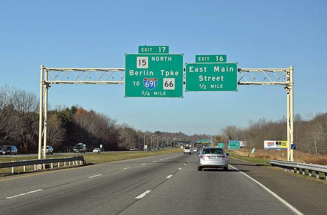 Interstate 91 - Meriden, Connecticut