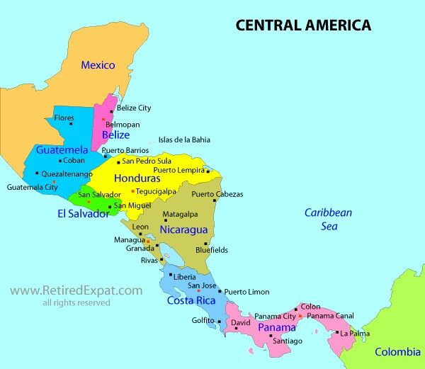 Panama Central America Map Maps Usa Map Images