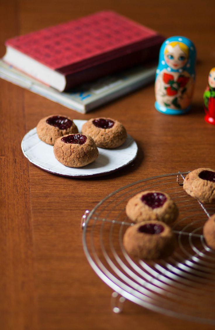 Köstliche makrobiotische Kekse. Vegan und glutenfrei. Mit Reissirup gesüßt. Unbedingt ausprobieren!