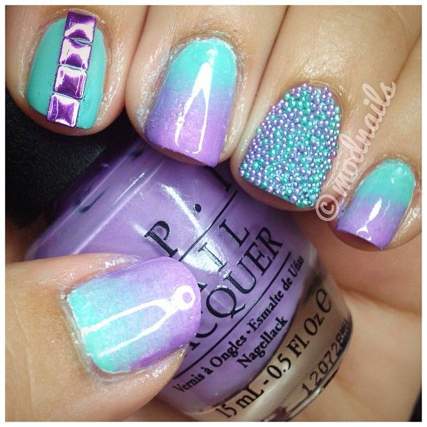 Purple and teal. love the color combo