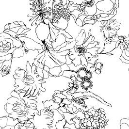 Flower Bouquet by Sanziana Toma Seamless Repeat Vector Royalty-Free Stock Pattern