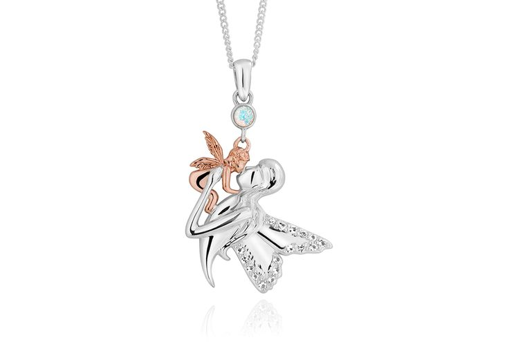Mother and Child Fairy Pendant 3SMBFP | Pendants and necklaces | Clogau Gold