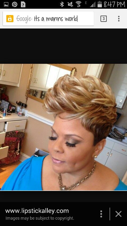 Tamela Mann blonde short do...