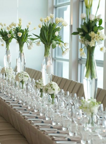 Thin Vase Flower Arrangements