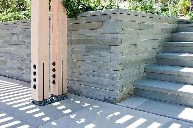 Stone Column Foundation : Wooden columns and steel joint on foundation wood