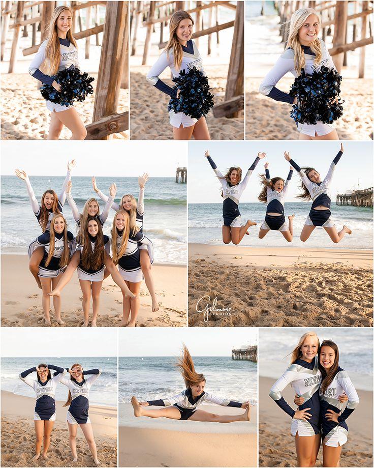Newport Harbor High School cheer squad 2014 - cheer, beach, pier, high school, dance, cheerleader, cheer team photo, cheerleading, orange county