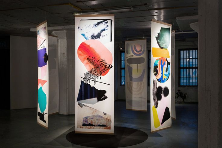 'Liput' / 'Flags' series Giclee print series 70 x 200 by Linda Linko. Galleria Huuto, Helsinki (FI) Photography by Paavo Lehtonen