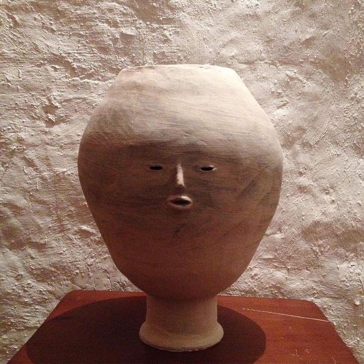 Esperando ser horneado  #ceramics #pottery #ceramica #objetosmuk #florero #cabeza
