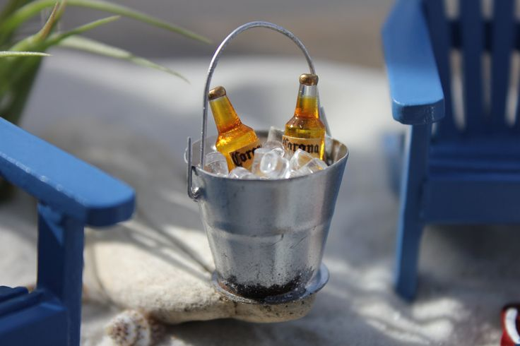 Miniature Handcrafted Bucket of Beer with by LandscapesNMiniature