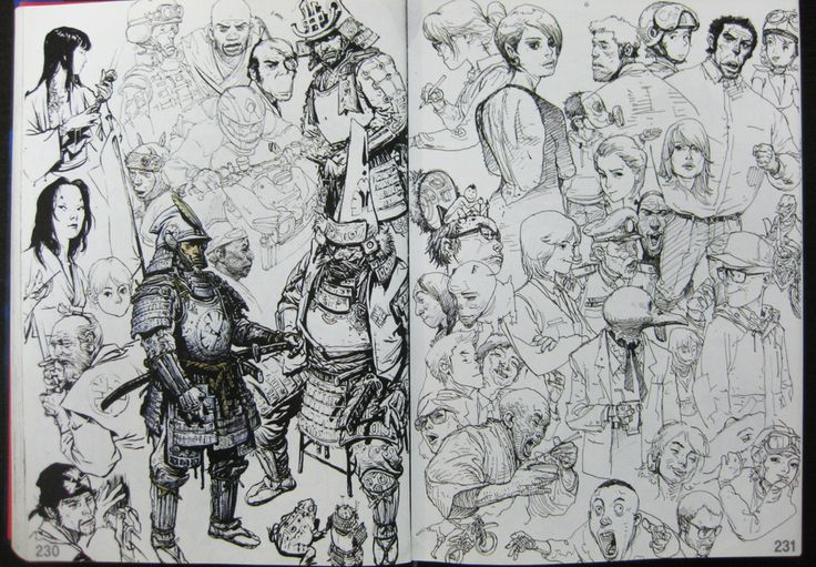 The 2013 sketchbook is the third and the latest sketchbook produced by Kim Jung Gi. The book is packed with amazing sketches, mainly character art. Most are line art, a few paintings. There are also m