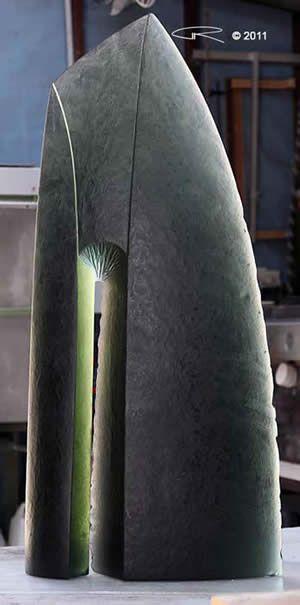 Cast Glass Sculpture by Auustralian Artist Peter Kovacsy