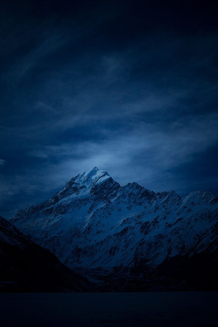 Aoraki Blue by Rob Dickinson on 500px... Mt Cook in the blue hour pre dawn one cold and frosty winter morning.