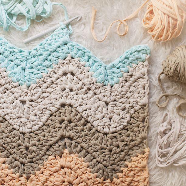 Mejores 356 im genes de trapillo ganchillo ganchillo xxl - Puntos crochet trapillo ...