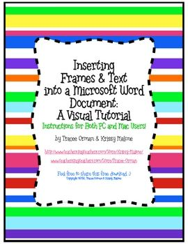how to use frames (clip art items such as png files)and add text in Microsoft Word. This is a simplified tutori...