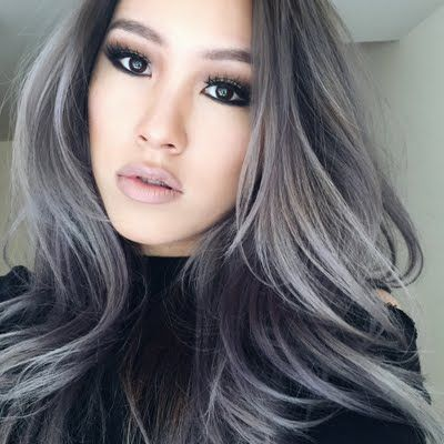 Rock an edgy silver violet shade on your hair for a change ...