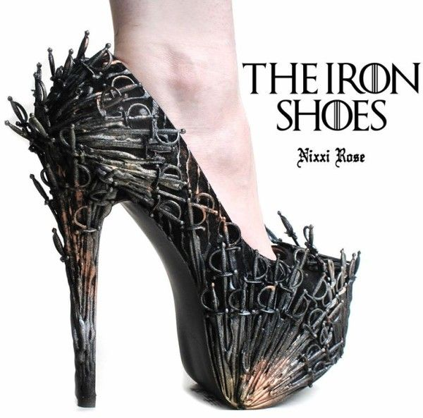 Be Ready to Pay the Iron Price for These Iron Throne Shoes [Pic]