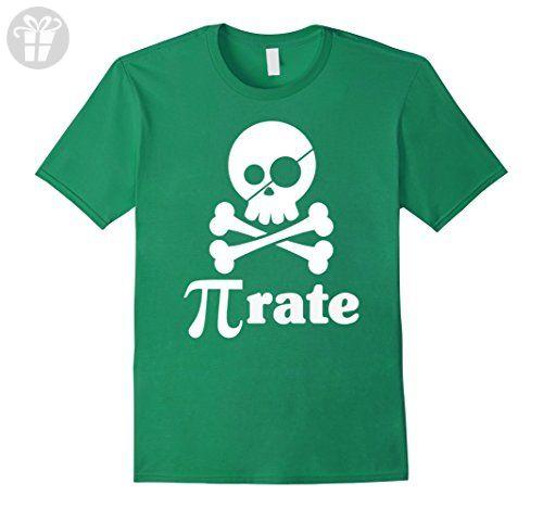Mens Cool Graphic Pi Pirate T Shirt Funny Pi Shirts  Small Kelly Green - Funny shirts (*Amazon Partner-Link)