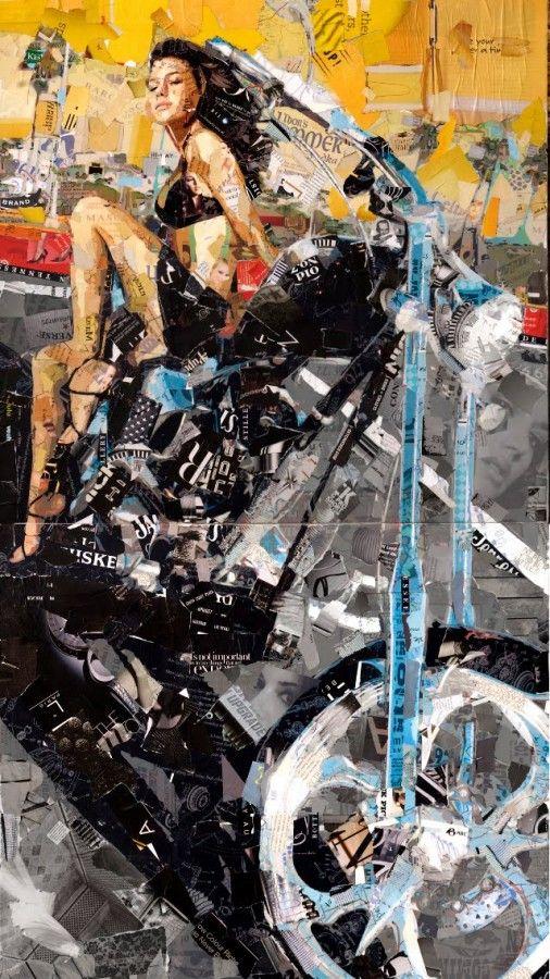 """Collage Art by Derek Gores """"Titanium Skin"""" #motorcycle #bikerart #bikeweek…"""