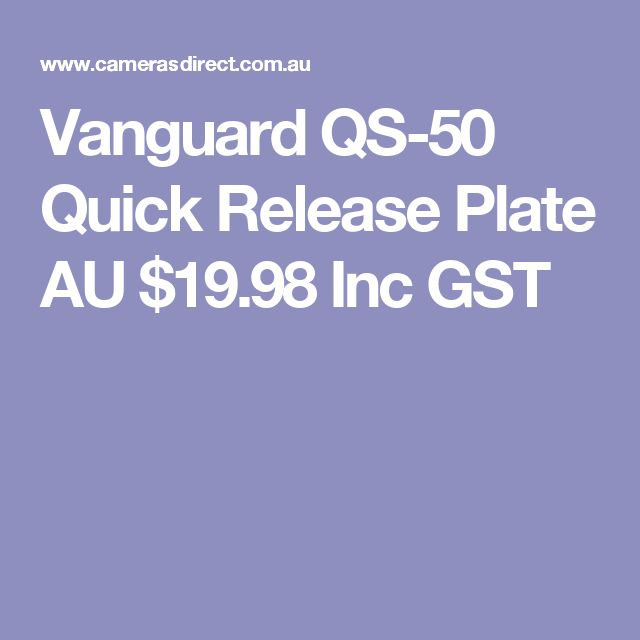 Vanguard QS-50 Quick Release Plate  AU $19.98 Inc GST
