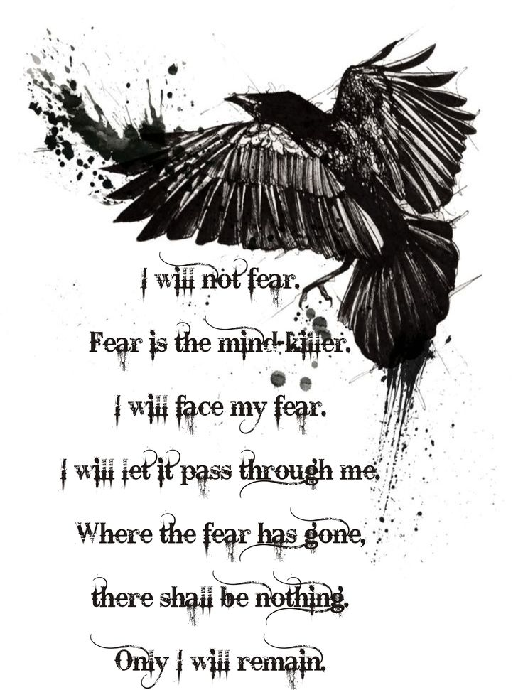 my concept for t-shirt or maby for tatoo. Dune, lithany against fear