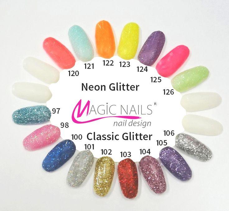 UV gel Neonové glittrové Glitter