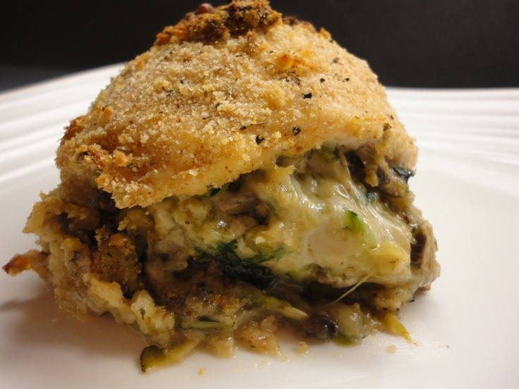Chicken Rollatini stuffed with zucchini, mushrooms, and mozzarella ...