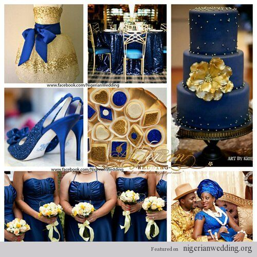 Royal Blue And Gold Wedding Decorations: ... -nigerian-wedding-navy
