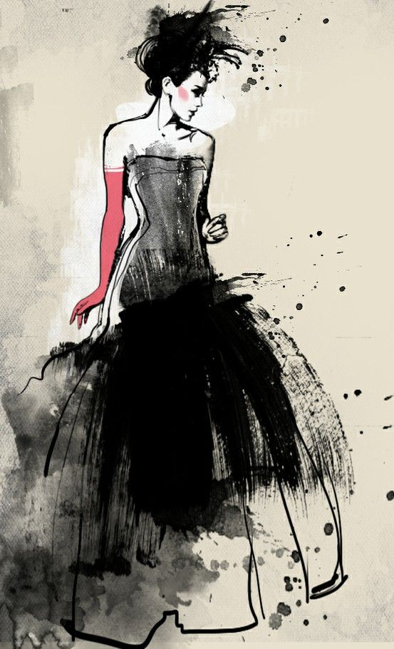 fashion illustration  You Can Do It 2. http://www.zazzle.com/posters?rf=238594074174686702