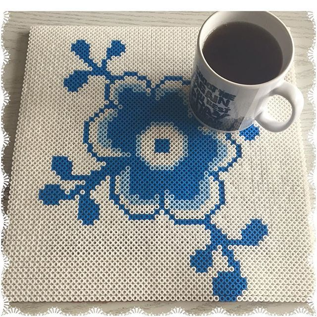 Royal Copenhagen placemat design hama beads by  gittejulie
