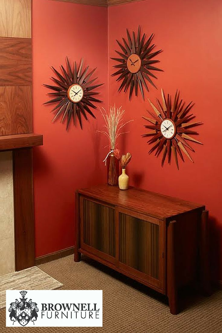 Midcentury Modern Starburst Wall Clocks, Mantle And Tv Consoleing Soon  To Popular Woodworking