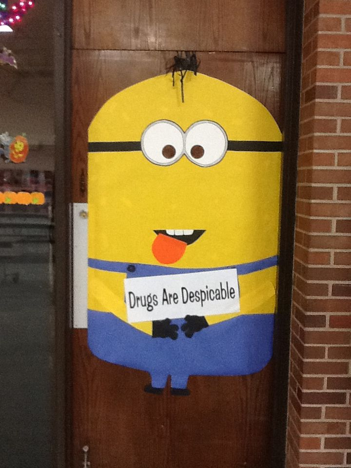 Halloween dorm door decorating contest ideas halloween door decorating - Door Decorating For Drug Free Week At School Bulliten