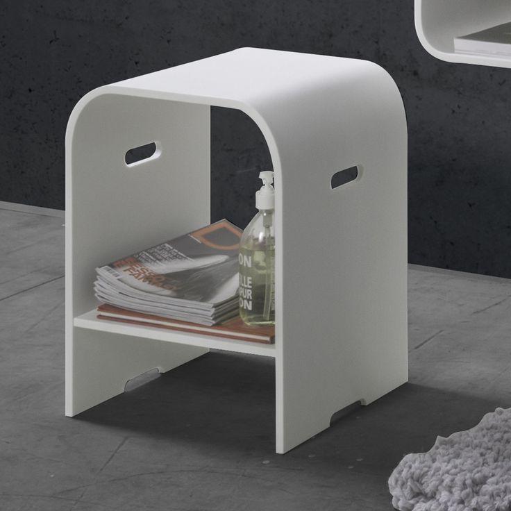 #Cipì #White #Diamond Sgabello Diamond CP501/WD | #Acrylic Stone #moderno | su #casaebagno.it a 428 Euro/pz | #accessori #bagno #complementi #oggettistica #gadget