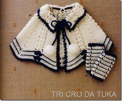 Capinha  clássica em crochê para bebê. Bem fácinha de fazer e com capricho, ela fica ainda mais bonita!