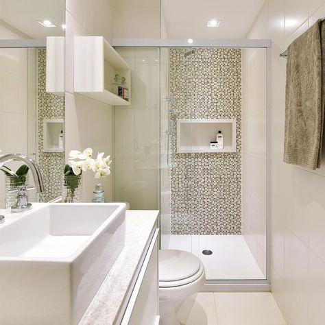 """MIKAELIAN FREITAS Arquitetura no Instagram: """"Banheiro do quarto de hóspedes…"""